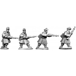 German Riflemen In Greatcoats