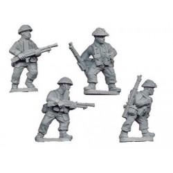 Late British Bren Gun Teams...