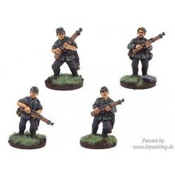 German Riflemen In Side...