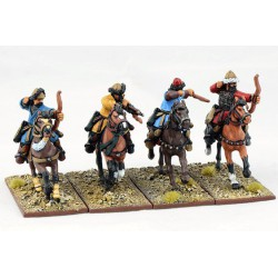 Mounted Ghulams With Bows...
