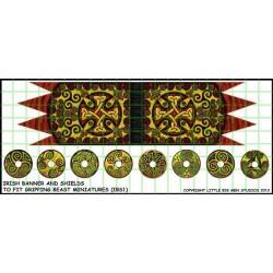 Irish Banner & Shield...