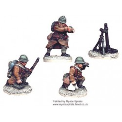 French 81mm Mortar & Crew...