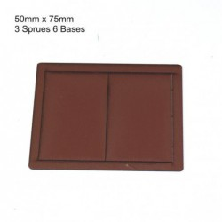 50x75mm Bases Brown (6)